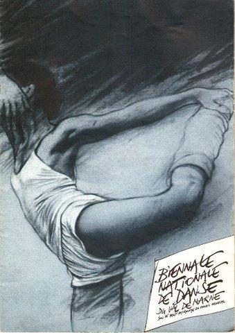 Affiche Biennale Nationale de Danse dessin Ernest Pignon Ernest