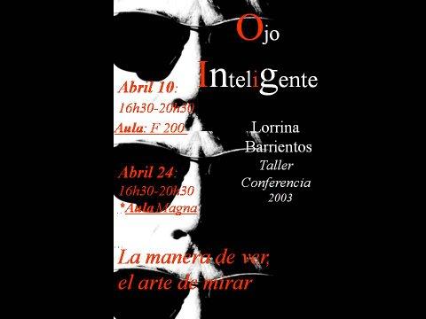 Affiche conférence La manière de Voir, l'Art de Regarder à la faculté des lettres à l'université de Ciudad Real en Espagne
