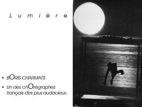 Boris Charmatz, chorég. Interprète extrait de la Masterclass 1998 photo extraite du Beau Livre La danse dans le monde Éditions Les Belles Lettres