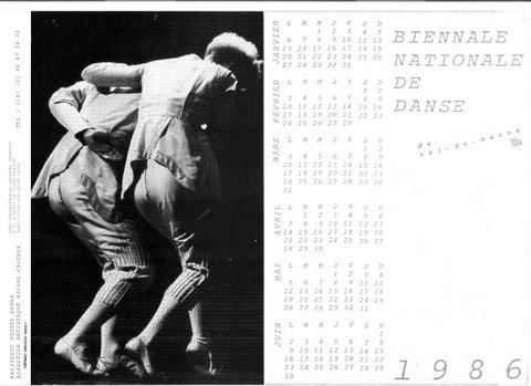 Calendrier Biennale Nationale de danse  Chorégraphie Dominique Bagouet