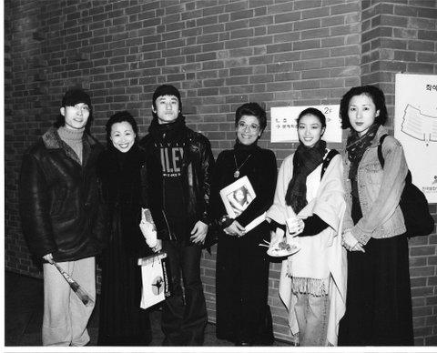 Danseur et chorégraphes avec Lorrina B. Fin de Plateforme de la danse à Seoul Corée du Sud