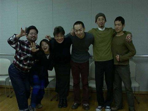 Danseurs et chorégraphes avec Lorrina B. Fête de cloture lors d'une Masterclass Hai Hall Theatre à Itami Osaka Japon