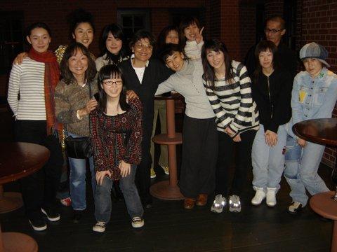 Danseurs et chorégraphes et amis Fin d'une Masterclass à Yokohama Japon 2007