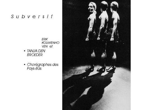 Erik Kouvenhoven & Tanjan Den Broeder chorégraphes Hollande Masterclass 1998