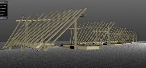Projet d' Instalation pour une exposition de sculptures contemporaines à Bargas Espagne Lorrina B. Commissaire Simulation 2