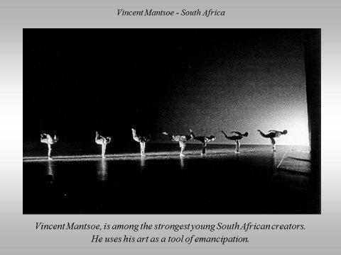 The inteligent eye Masterclass 2007 Vincent Mantsoe South Africa extrait du Beau Livre La Danse dans le Monde Éditions Les Belles Lettres