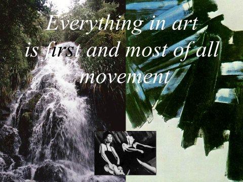 The inteligent eye Masterclass 2007 analyse de l'espace et du mouvement dans l'art