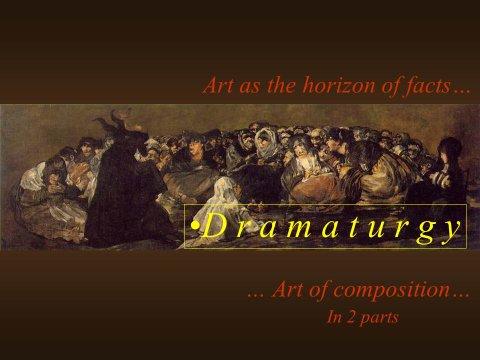 The inteligent eye Masterclass 2007 chapitre Dramaturgie étude de la composition des oeuvres de cinéma d'arts plastiques
